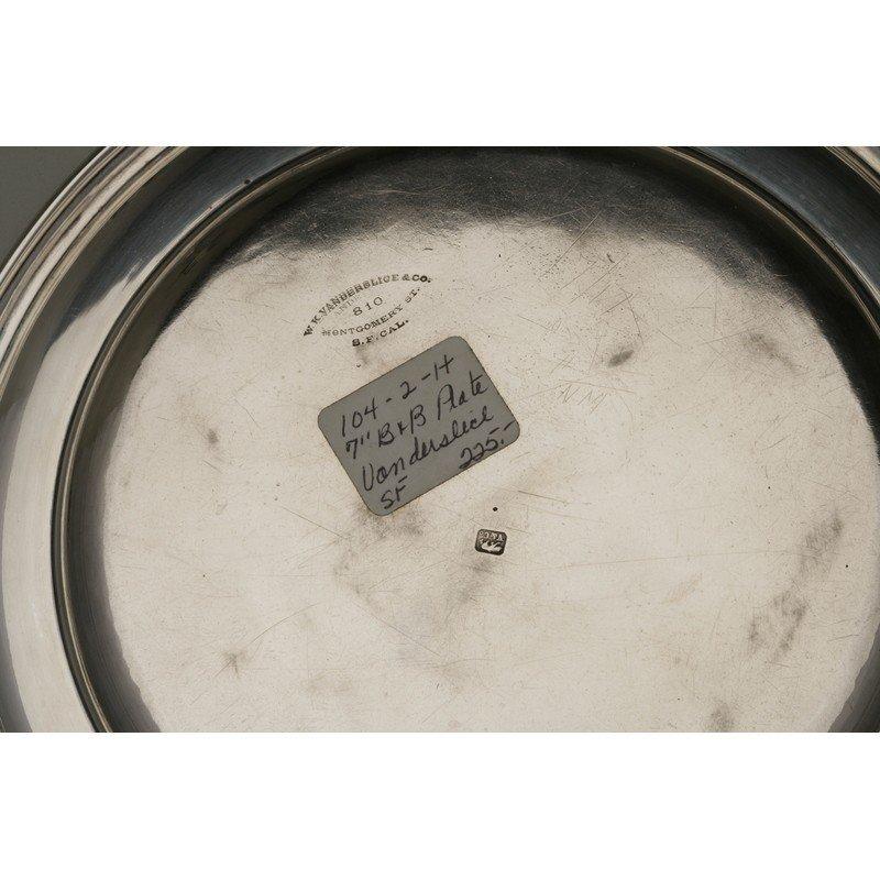 Vanderslice & Co.(1858-1908)  Two Silver Bread Plates - 3