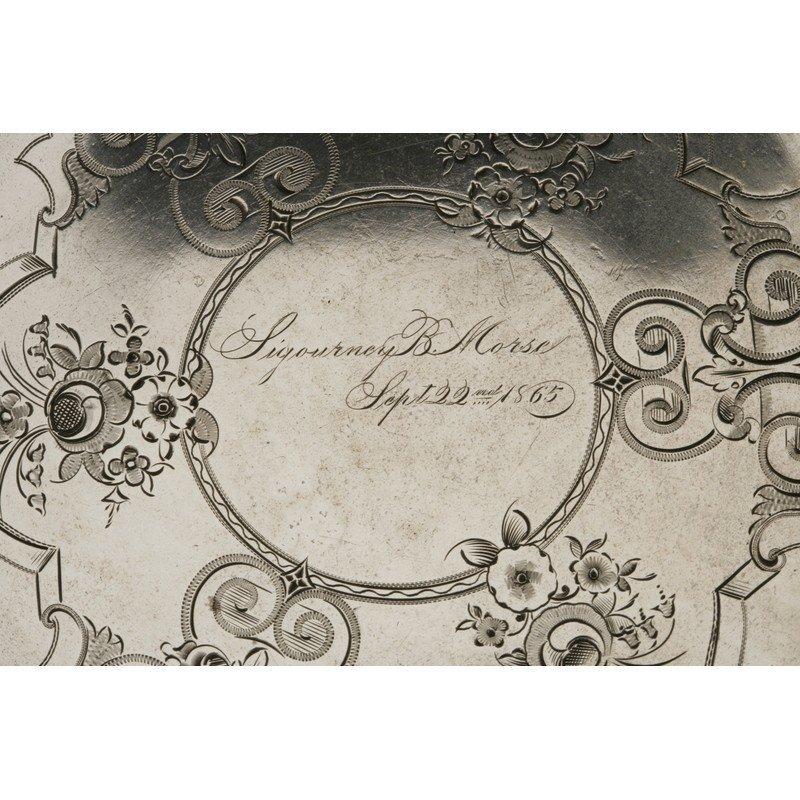 Vanderslice/Tucker Silver Bread Plate - 2
