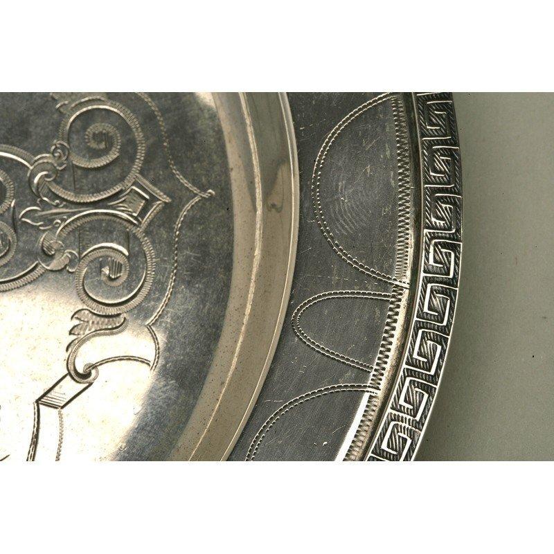 Vanderslice/Tucker Silver Bread Plate - 3