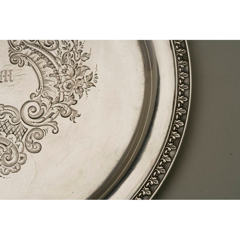 Vanderslice & Co. (1858-1908) Coin Silver Bread Plate - 3