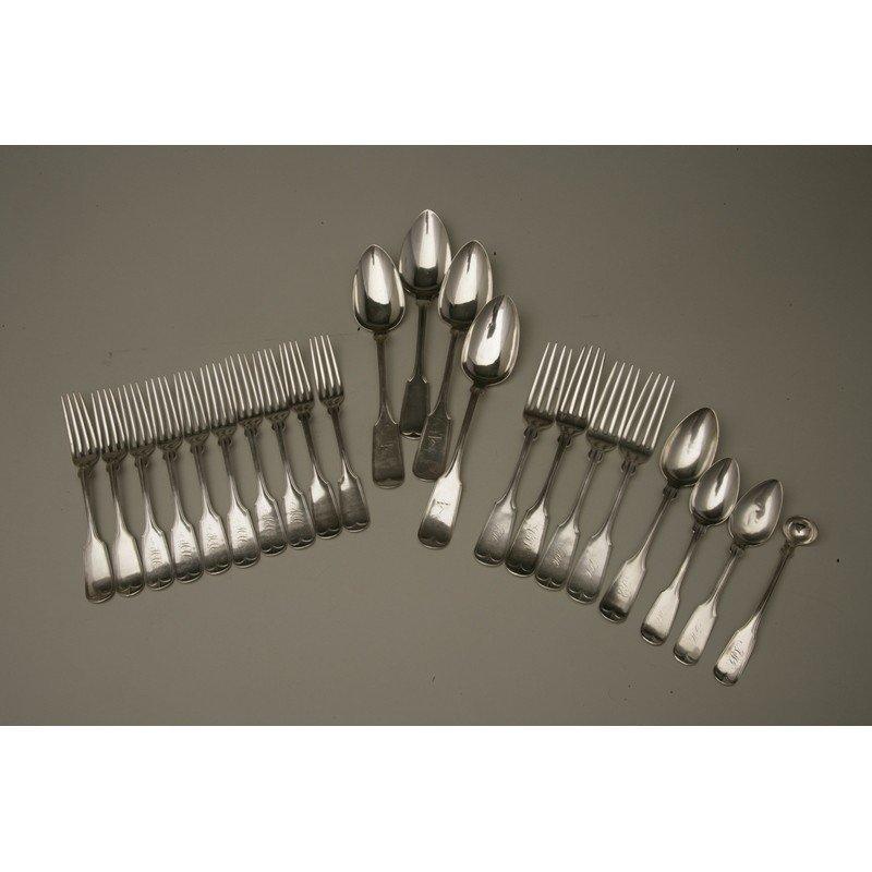 Vanderslice & Co (1858-1908) 24 piece Assorted Silver