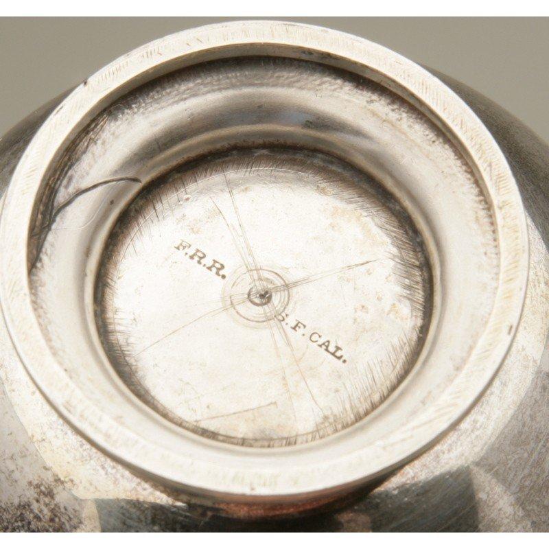 Friedrich Reichel (1856-1867) Silver Teacup & Saucer - 4