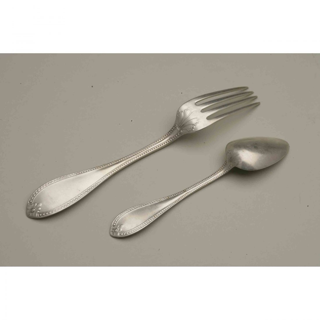 Friedrich Reichel (1856-1867) Assorted Silver Flatware - 2