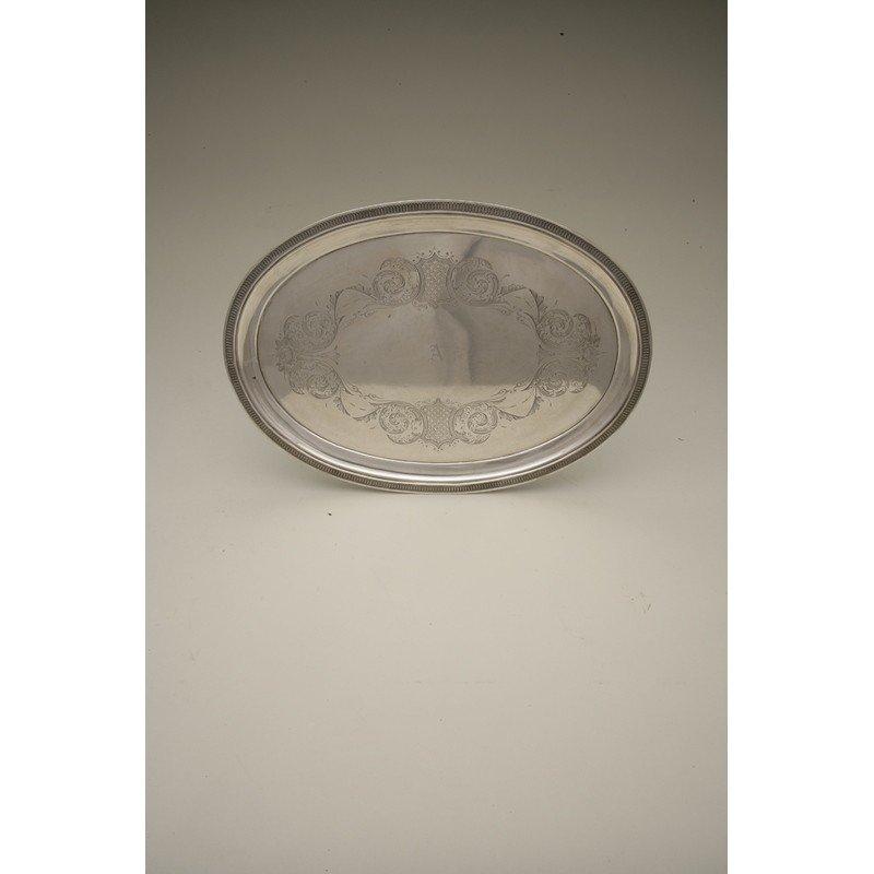 Schulz & Fischer (1863-1900) Coin Silver Tray