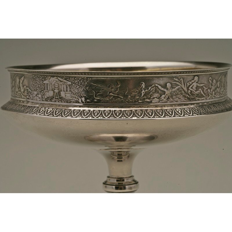 Schulz & Fischer (1863-1900) Sterling Footed Compote - 2