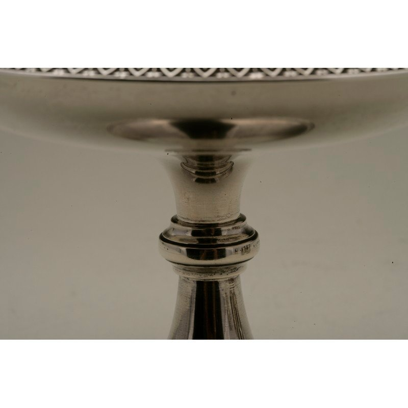 Schulz & Fischer (1863-1900) Sterling Footed Compote - 4