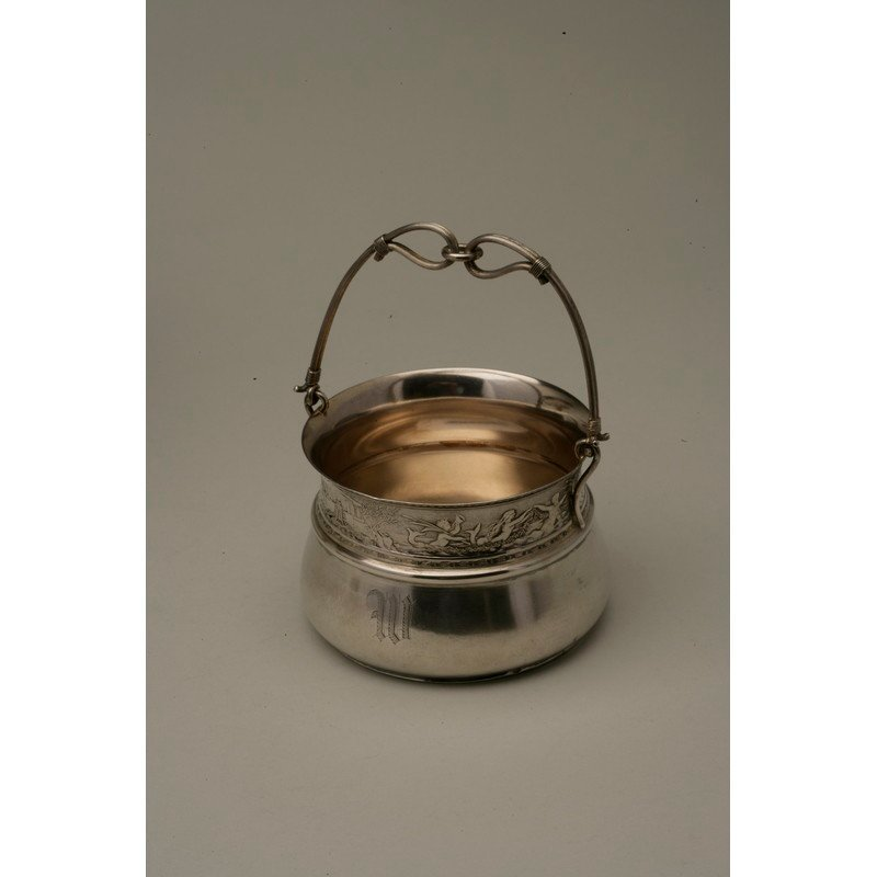 Schulz & Fischer (1863-1900) Sterling Sugar Basket