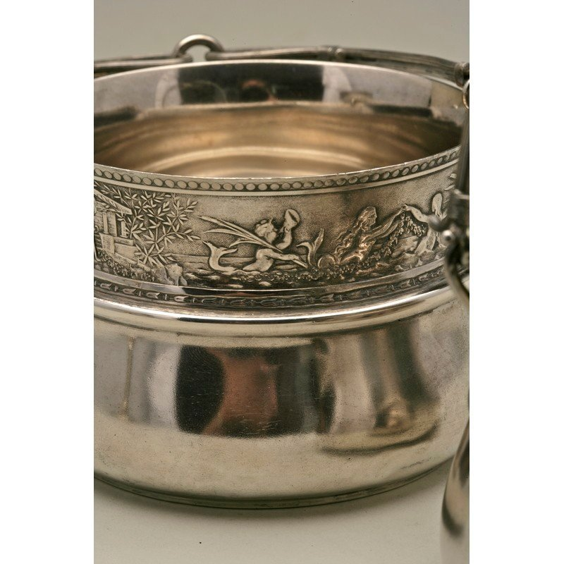 Schulz & Fischer (1863-1900) Sterling Sugar Basket - 6