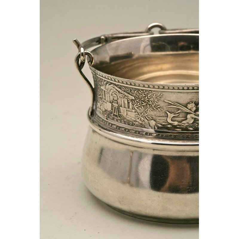 Schulz & Fischer (1863-1900) Sterling Sugar Basket - 7