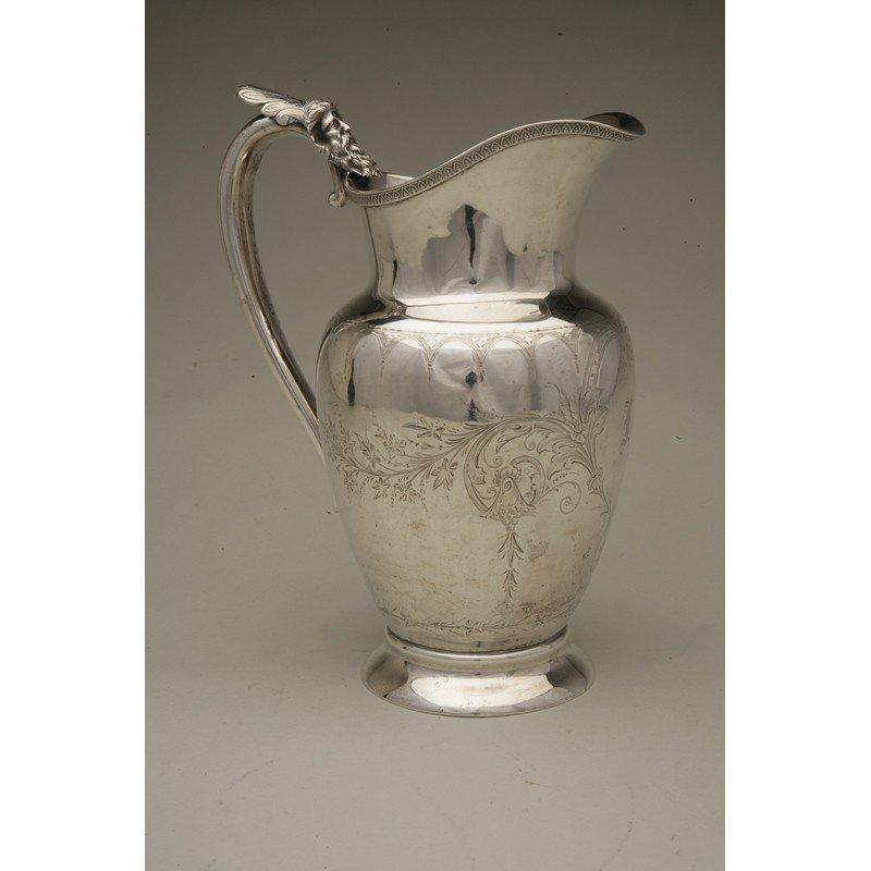 Schulz & Fischer (1863-1900) Coin Silver Water Pitcher - 3