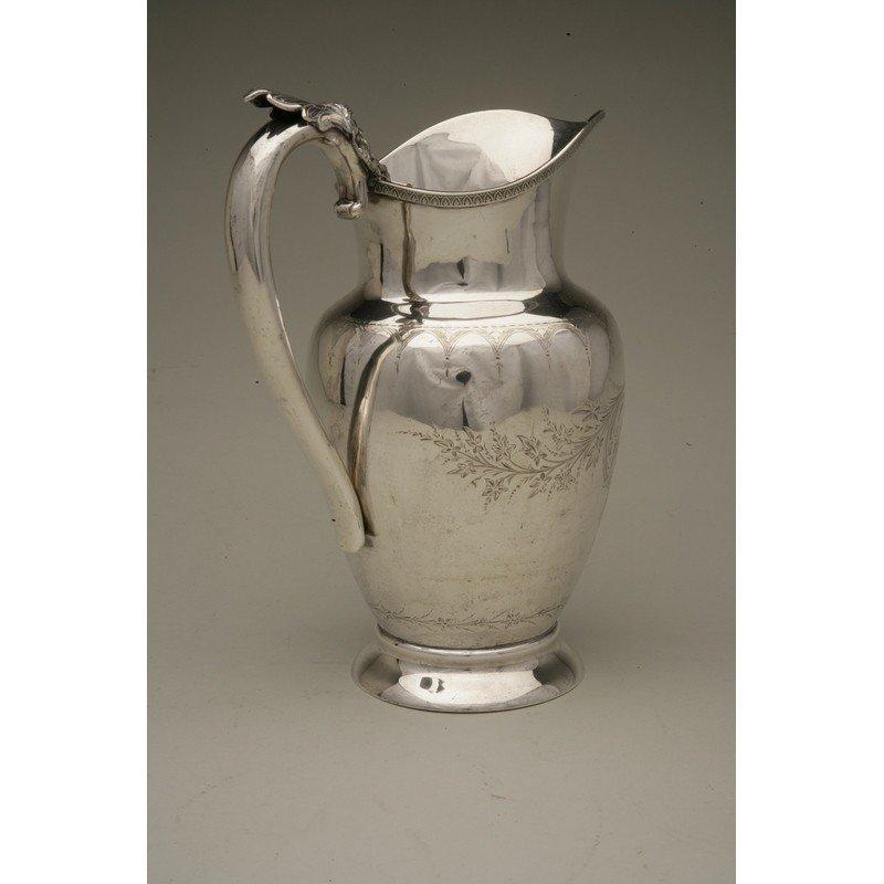 Schulz & Fischer (1863-1900) Coin Silver Water Pitcher - 4
