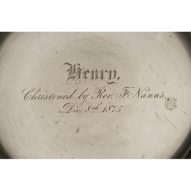 Schulz & Fischer (1863-1900) Silver Christening Plate - 2