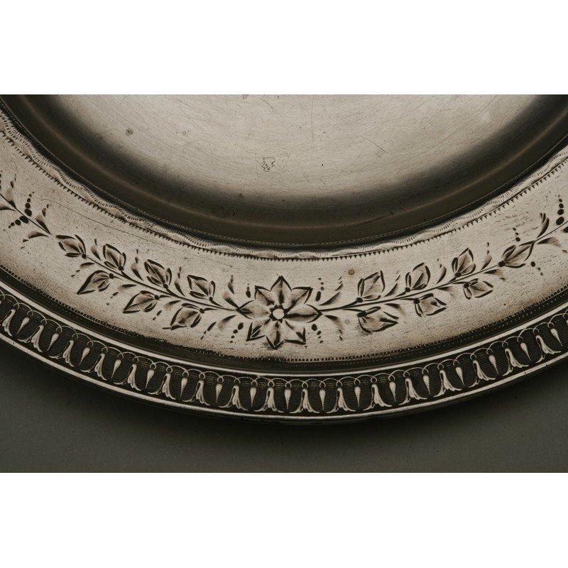 Schulz & Fischer (1863-1900) Silver Christening Plate - 3