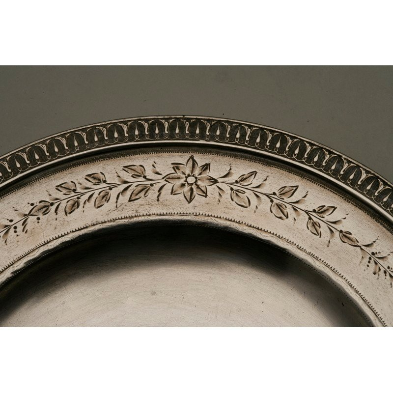 Schulz & Fischer (1863-1900) Silver Christening Plate - 4