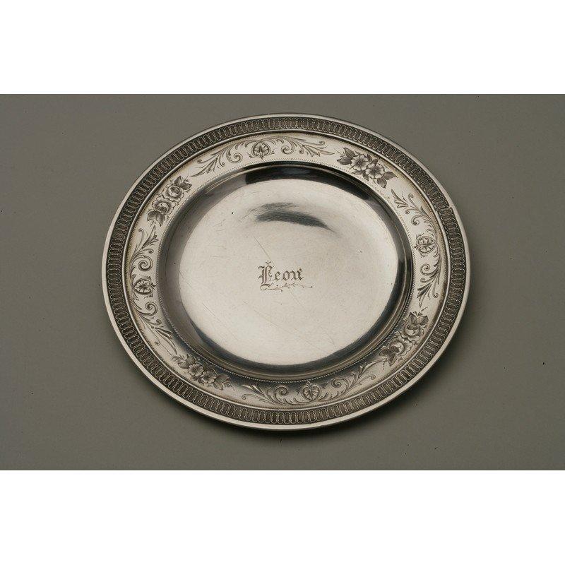 Schulz & Fischer (1863-1900) Coin Silver Small Tray