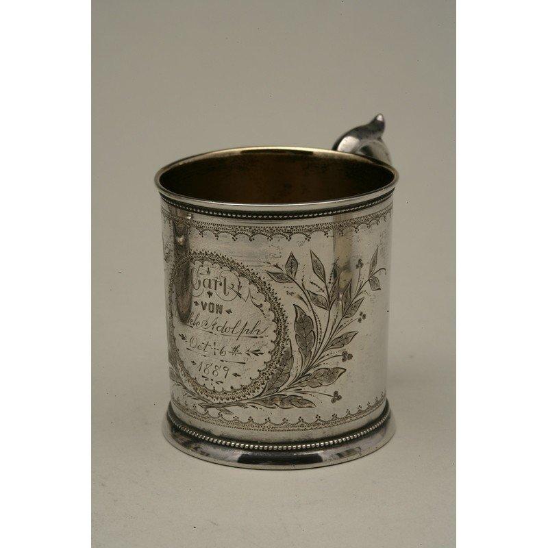 Schulz & Fischer (1863-1900) Coin Silver Child's Cup