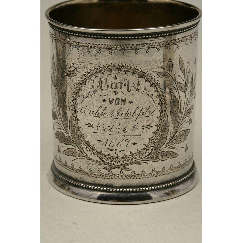 Schulz & Fischer (1863-1900) Coin Silver Child's Cup - 2