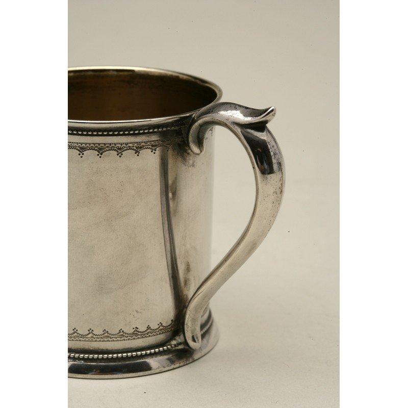 Schulz & Fischer (1863-1900) Coin Silver Child's Cup - 3