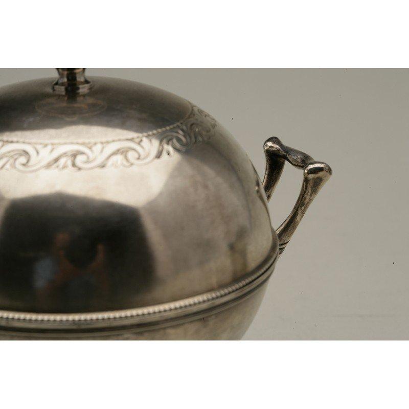 Schulz & Fischer (1863-1900) Silver Butter Server - 3