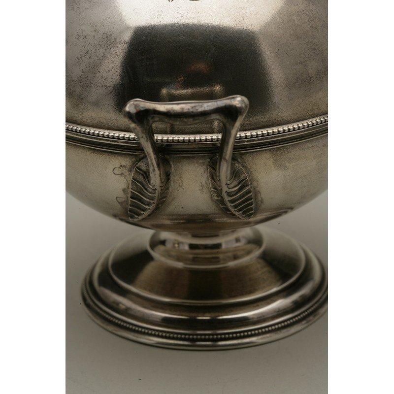 Schulz & Fischer (1863-1900) Silver Butter Server - 5