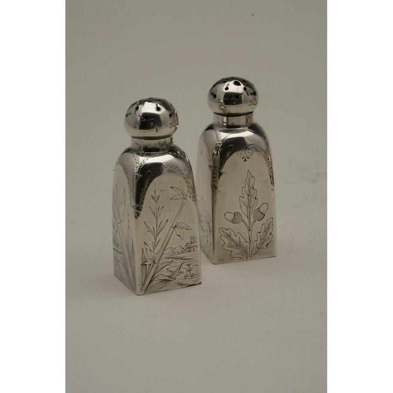 Schulz & Fischer (1863-1900) Sterling Japonism Salt &