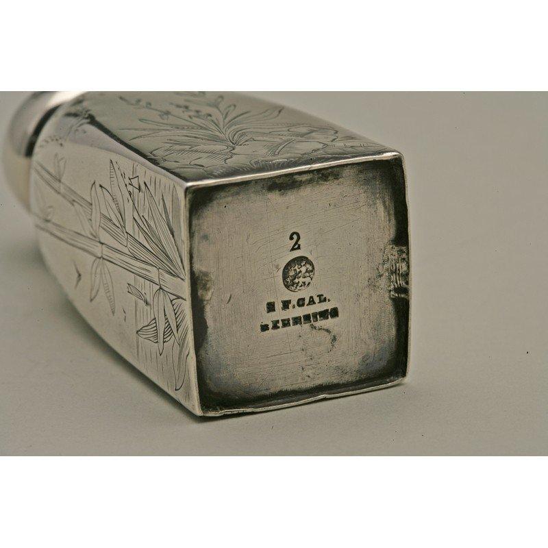 Schulz & Fischer (1863-1900) Sterling Japonism Salt & - 3
