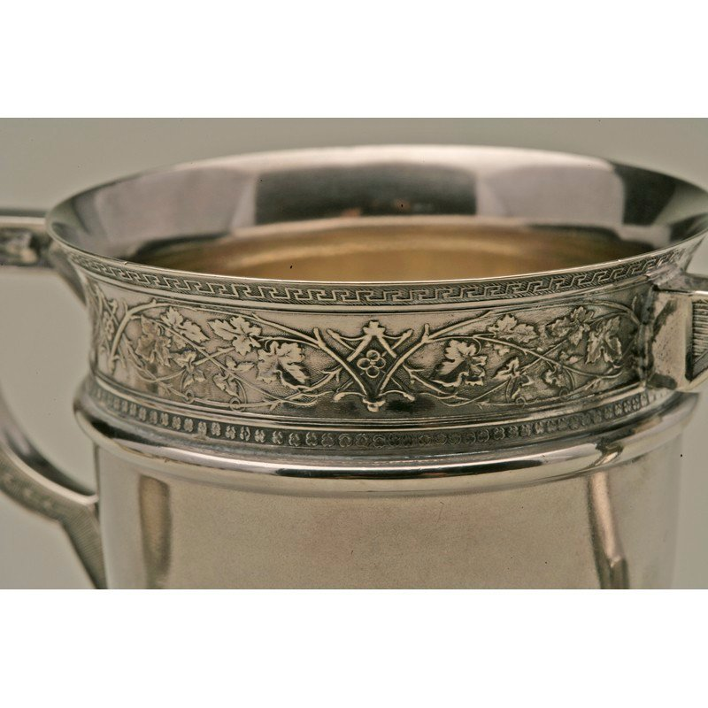 Schulz & Fischer (1863-1900) Sterling Two Handled Cup - 4