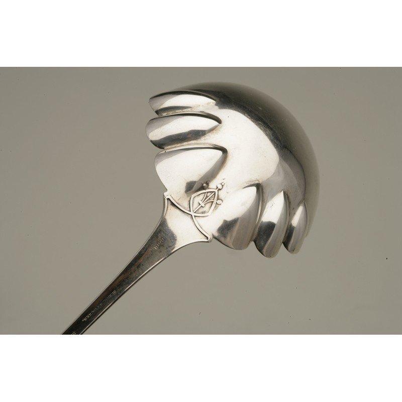 Schulz & Fischer (1863-1900) Coin Silver Ladle & Server - 7