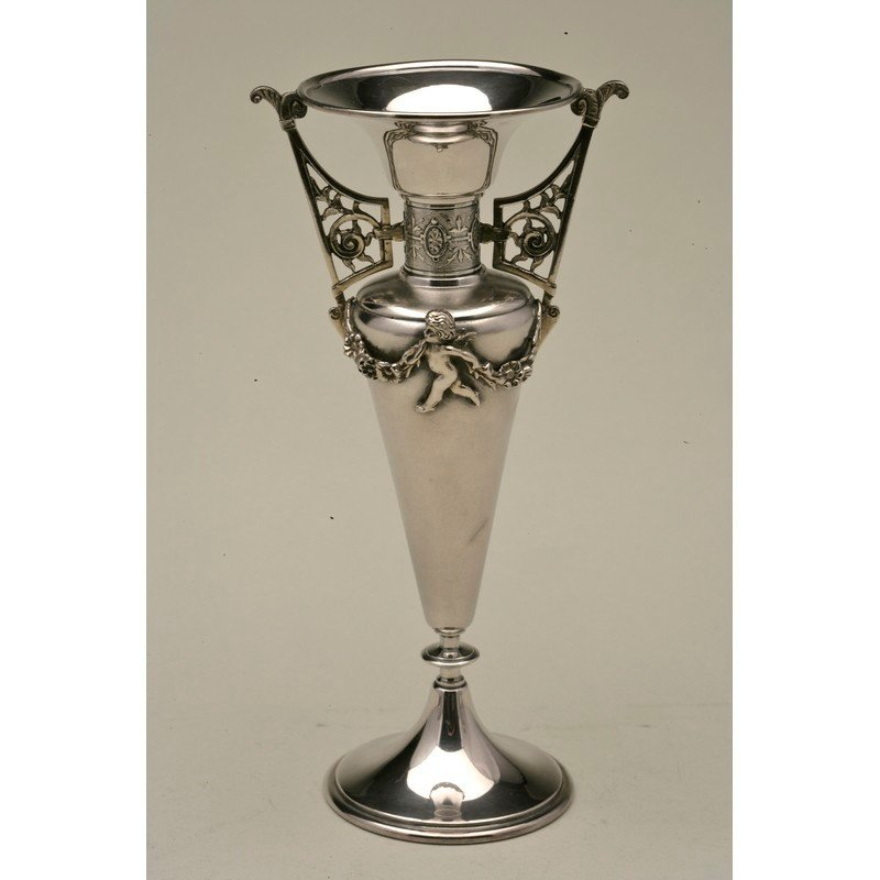 Koehler & Ritter (1868-1885) Silver Bud Vase