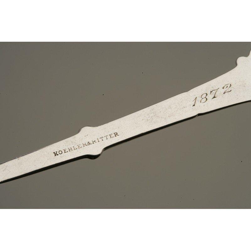 Koehler & Ritter (1868-1885) Silver Berry Spoon - 6