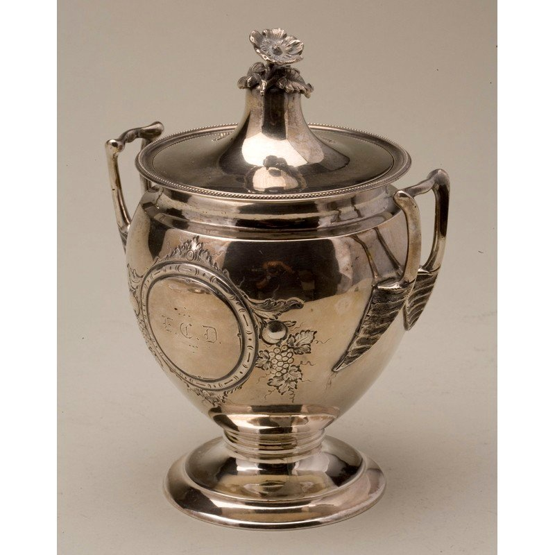 Koehler & Ritter (1868-1885) Silver Sugar Urn w/ Lid