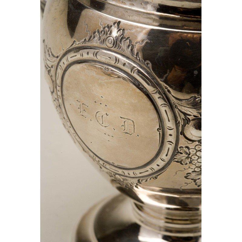 Koehler & Ritter (1868-1885) Silver Sugar Urn w/ Lid - 3