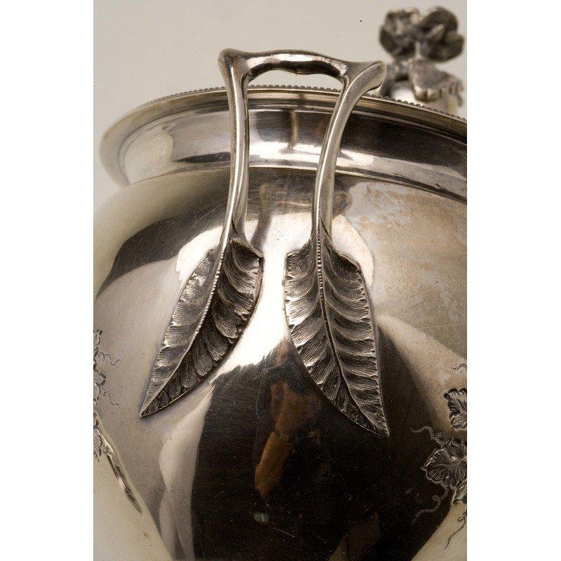 Koehler & Ritter (1868-1885) Silver Sugar Urn w/ Lid - 5
