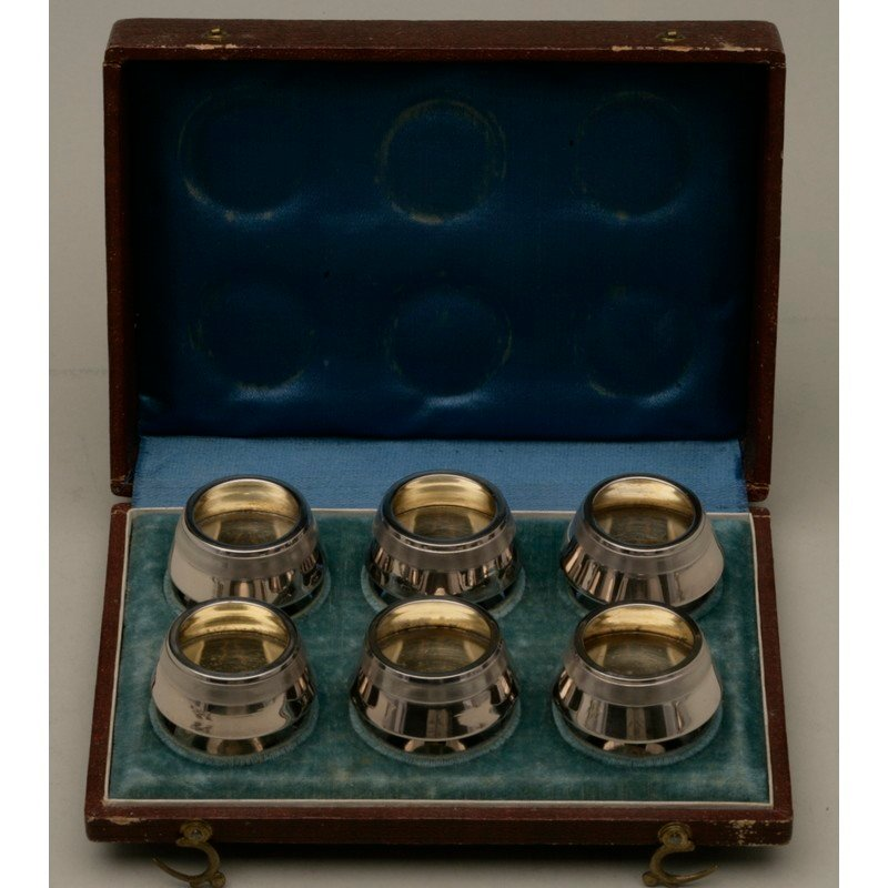 Koehler & Ritter (1868-1885) Six Cased Silver Salts