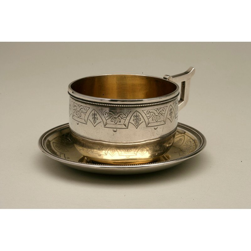 Coin Silver Cup and Saucer