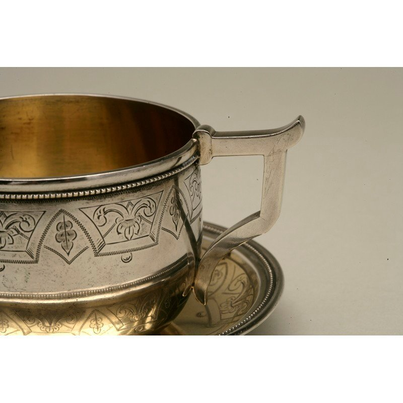Coin Silver Cup and Saucer - 3