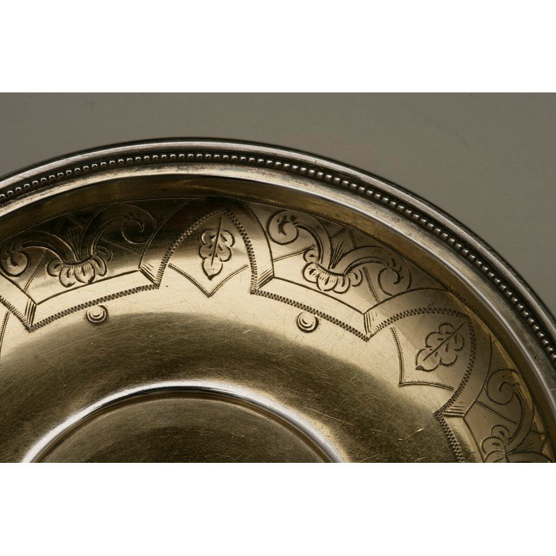 Coin Silver Cup and Saucer - 7