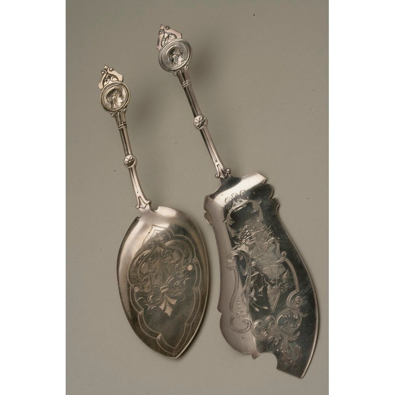 Coin Silver Pie Server and Fish Slice - 2