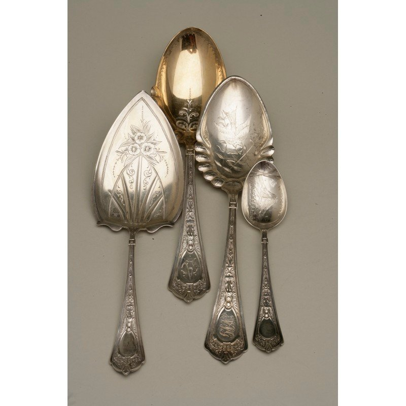 Four Silver Serving Pieces