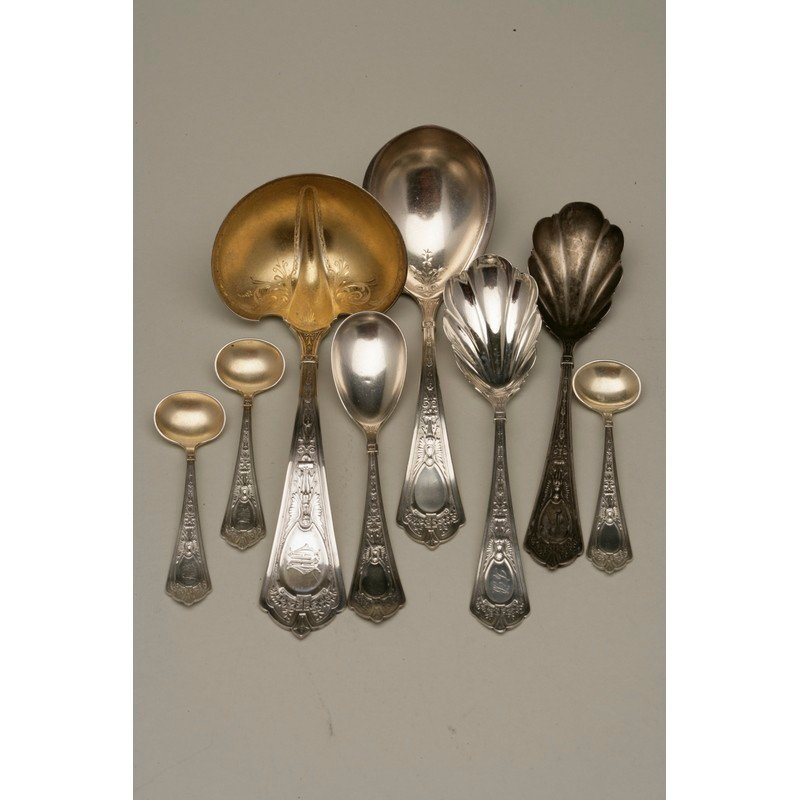 Eight Assorted Sterling Serving Pieces