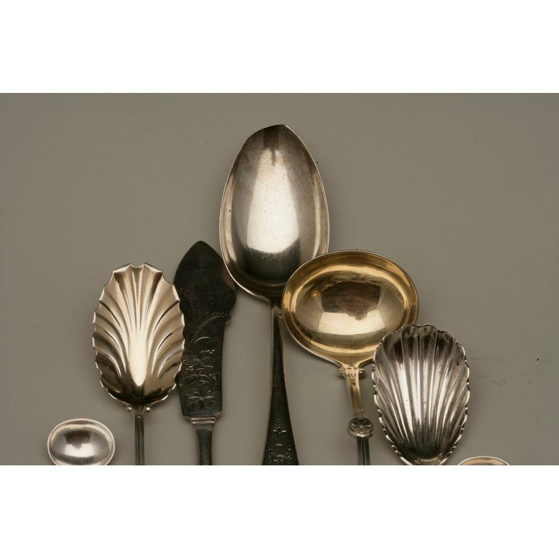 Seven Pieces Assorted Silver Flatware - 2