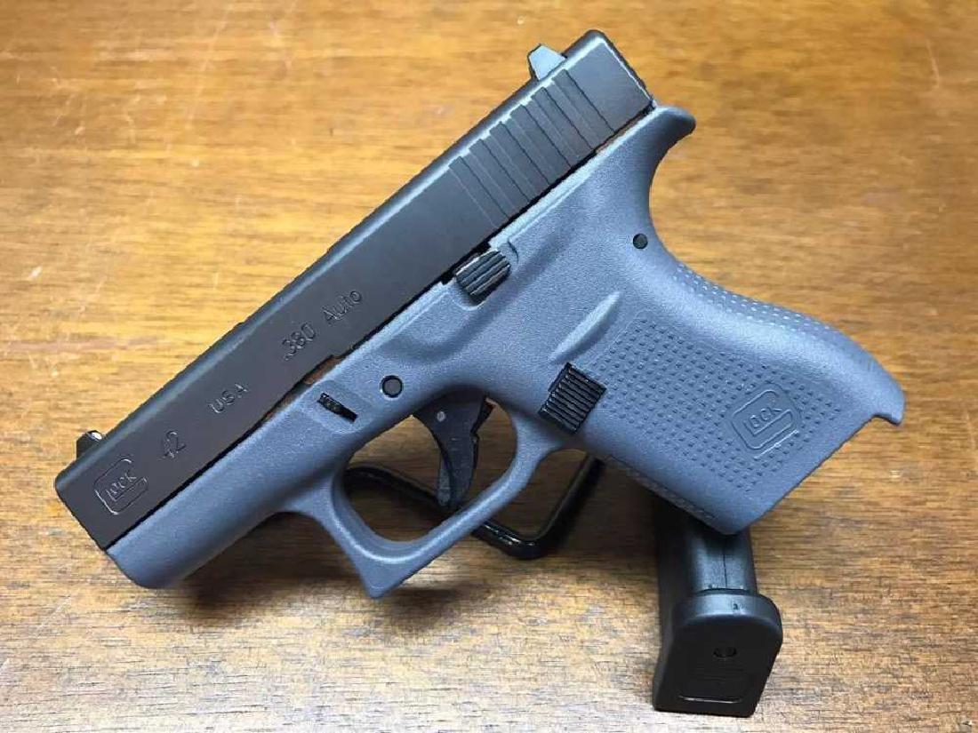 Glock 42 .380 Single Stack Gray Auto Slim Line