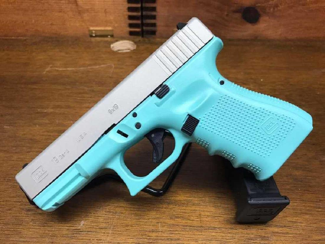 Glock 19 G4 9mm in Tiffany with Stainless Slide