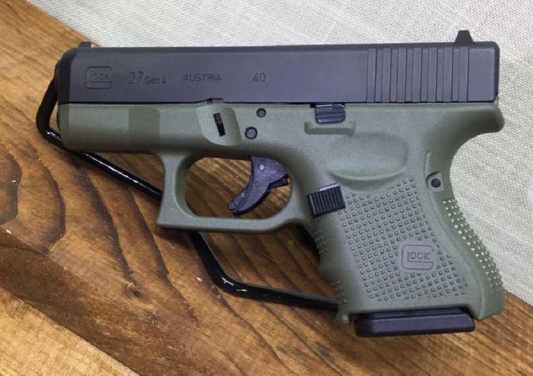 Glock 27 Gen 4 Battle Field Green .40 S&W 3 mags