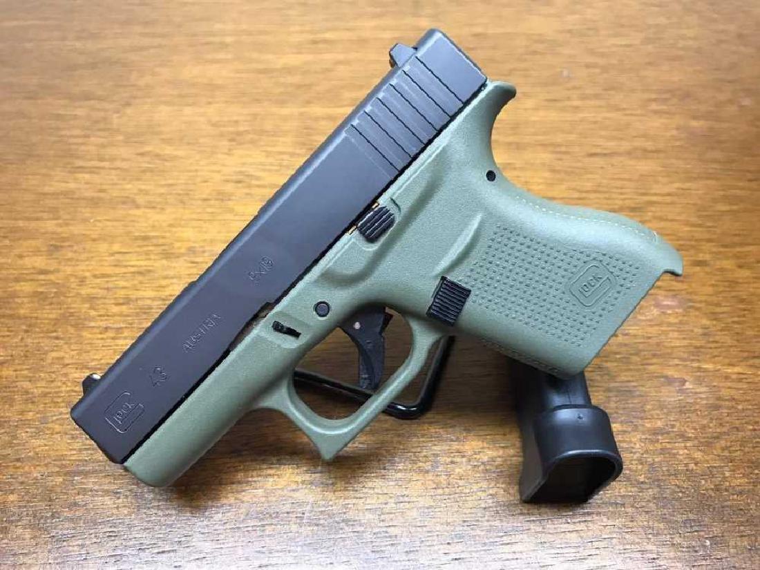 Glock 43 Battle Field Green 9mm Single Stack