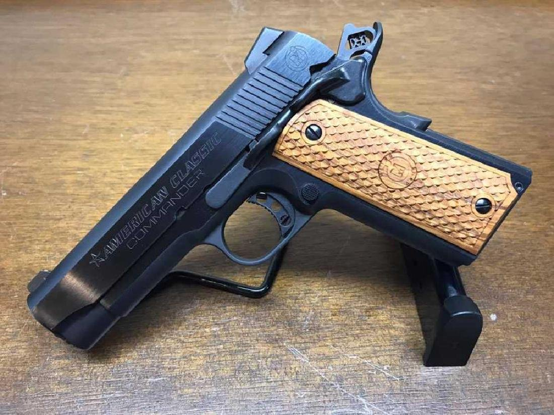 American Classic 1911 Commander .45 ACP with wood grips