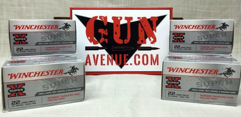 1000 Rounds Winchester 22LR 40 Grain 1065 FPS Subsonic