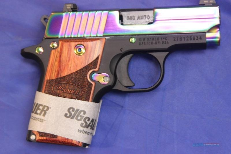 Sig Sauer P238 Rainbow chambered in .380 acp