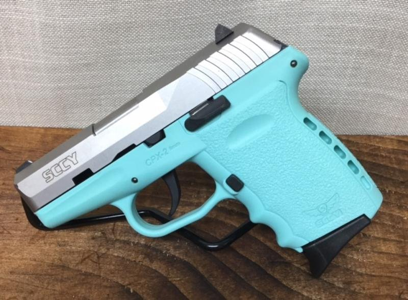 SCCY CPX-2 9mm Tiffany Blue & Stainless 9mm with 2 Mags