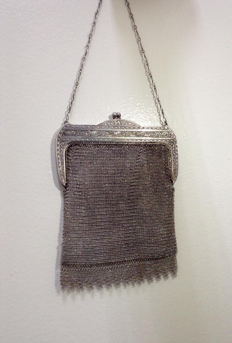 Vintage Whiting and Davis Mesh Handbag - 2